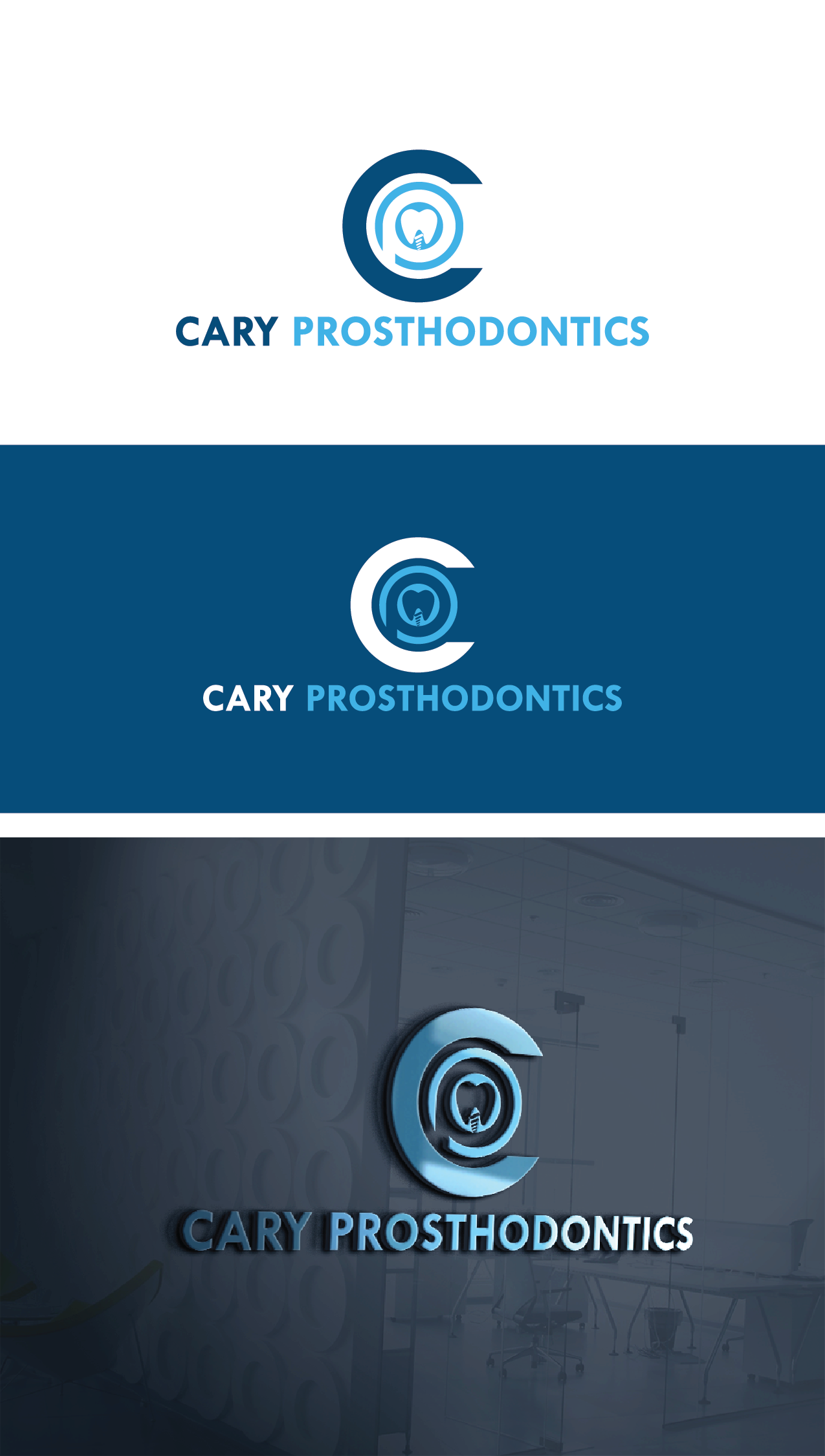 Logo Design by Private User - Entry No. 56 in the Logo Design Contest Cary Prosthodontics Logo Design.