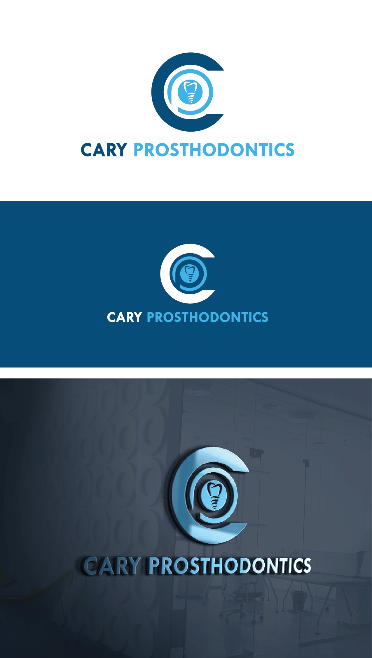 Logo Design by Private User - Entry No. 58 in the Logo Design Contest Cary Prosthodontics Logo Design.