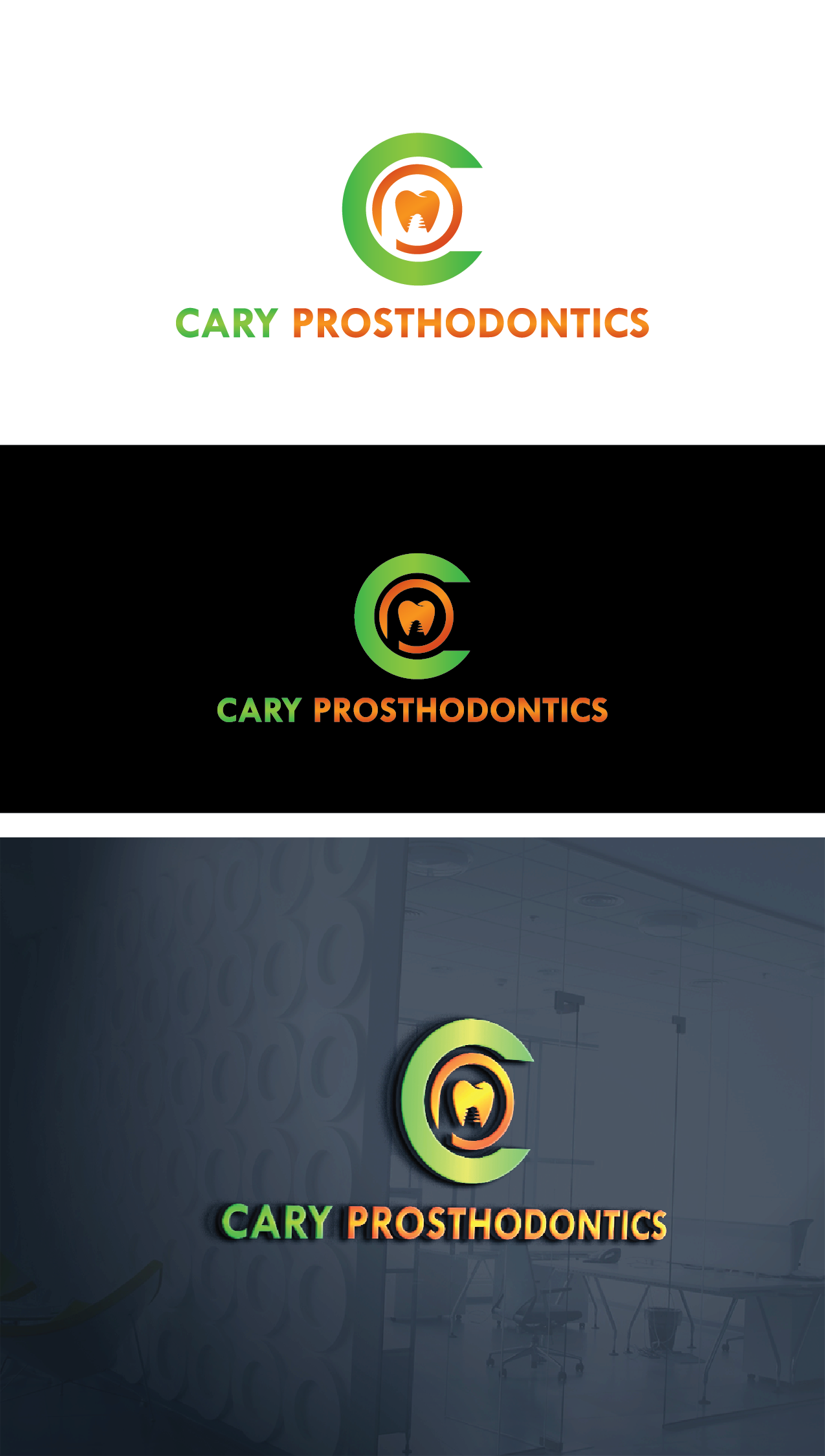 Logo Design by Private User - Entry No. 60 in the Logo Design Contest Cary Prosthodontics Logo Design.