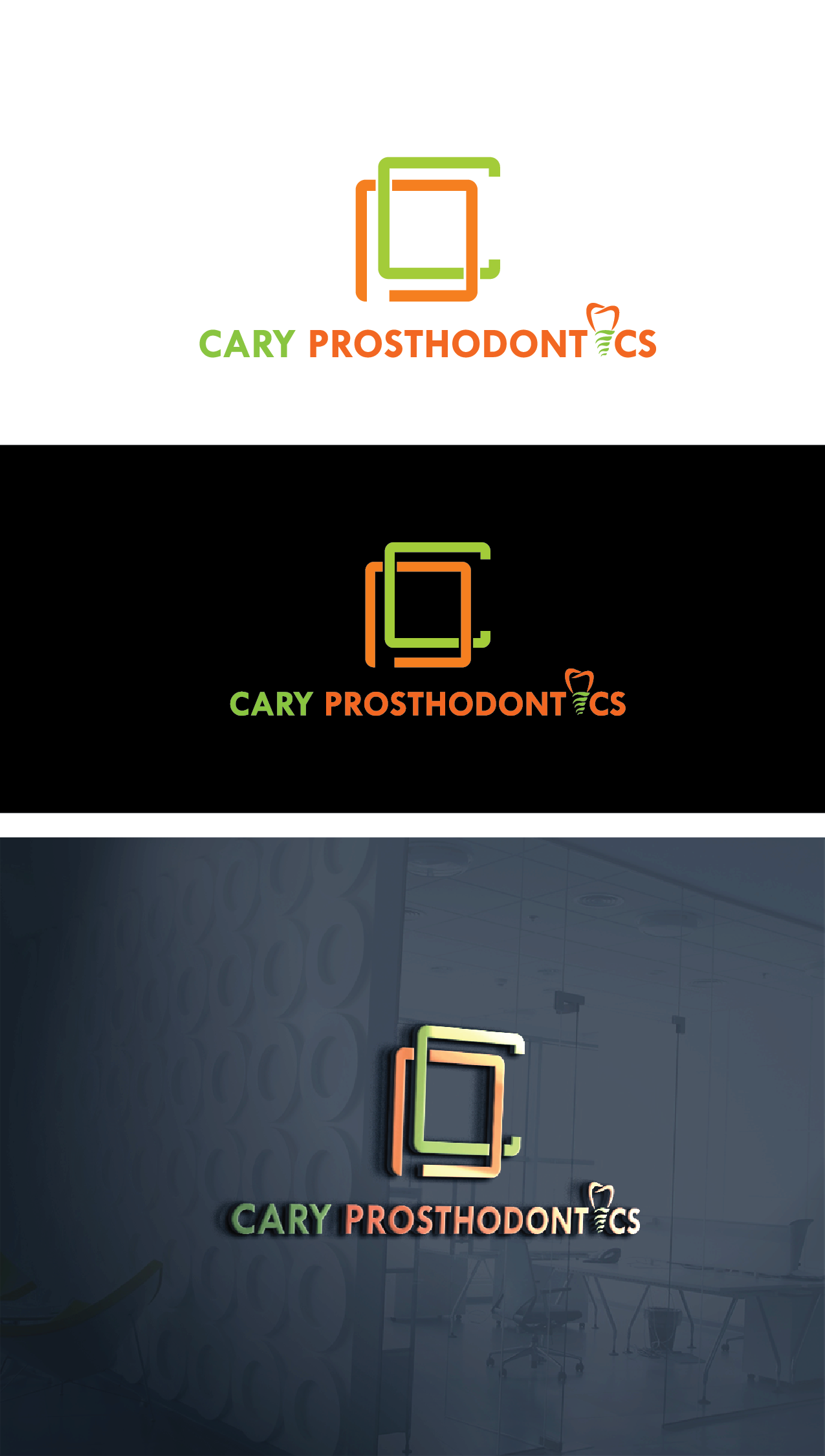 Logo Design by Private User - Entry No. 94 in the Logo Design Contest Cary Prosthodontics Logo Design.