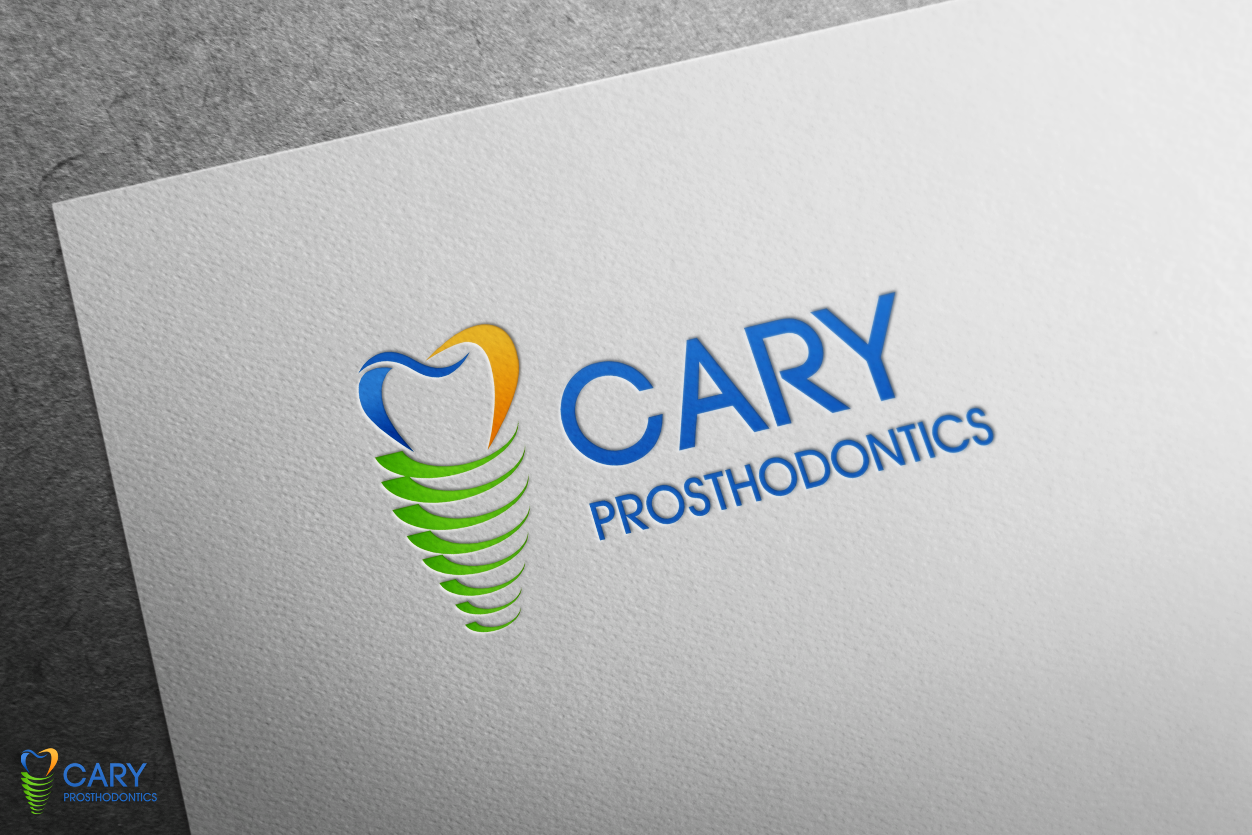 Logo Design by Hania Hassaan - Entry No. 113 in the Logo Design Contest Cary Prosthodontics Logo Design.