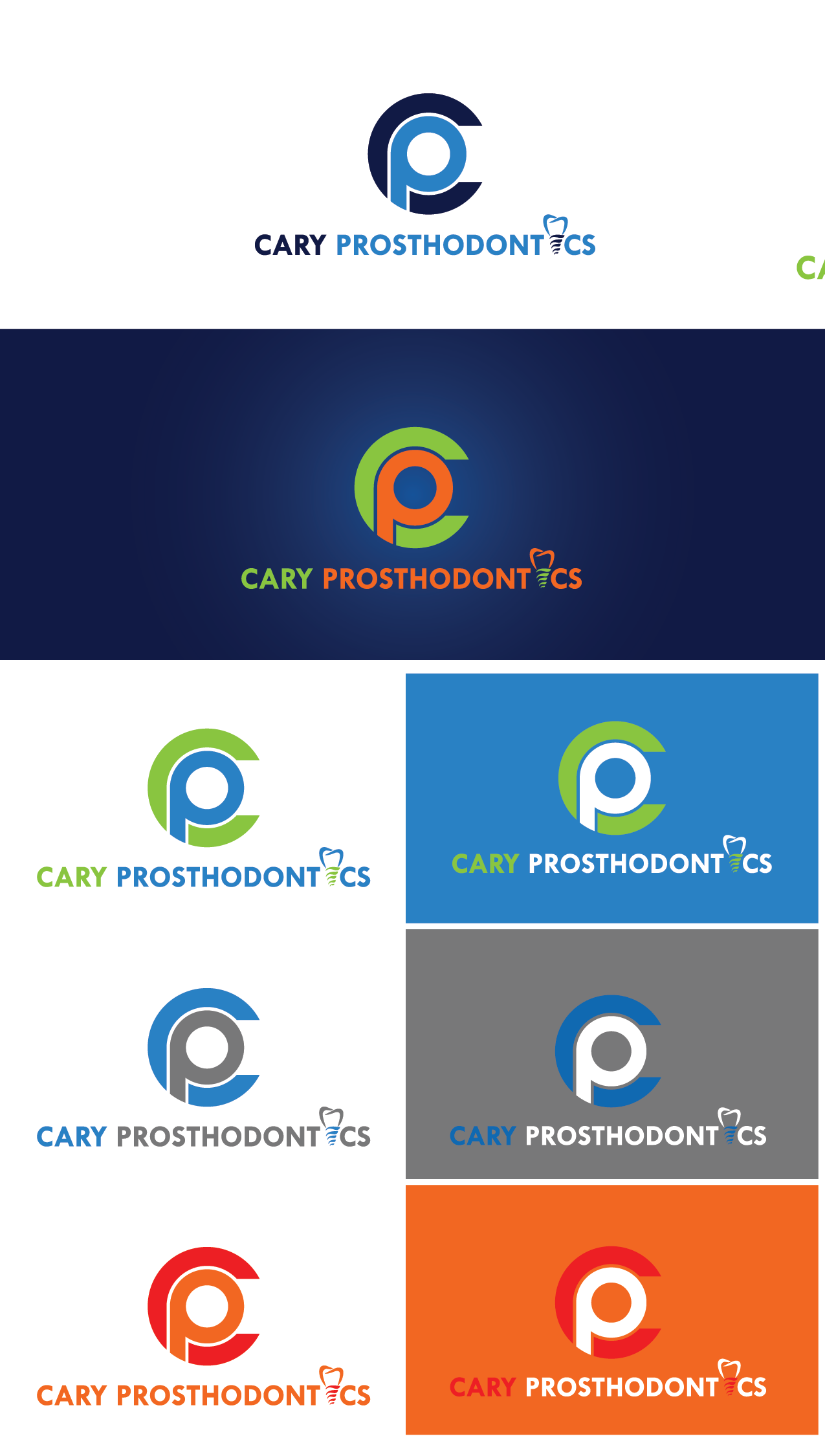 Logo Design by Private User - Entry No. 114 in the Logo Design Contest Cary Prosthodontics Logo Design.