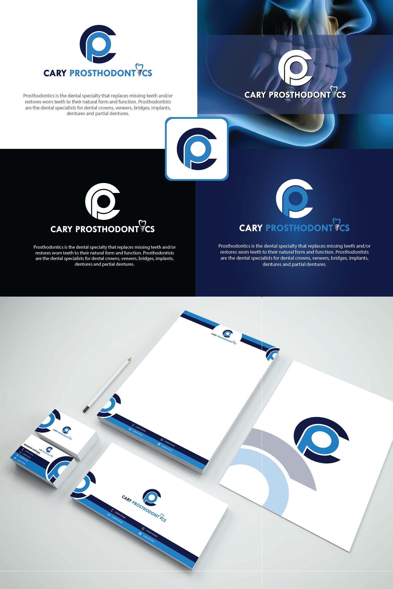 Logo Design by Private User - Entry No. 125 in the Logo Design Contest Cary Prosthodontics Logo Design.