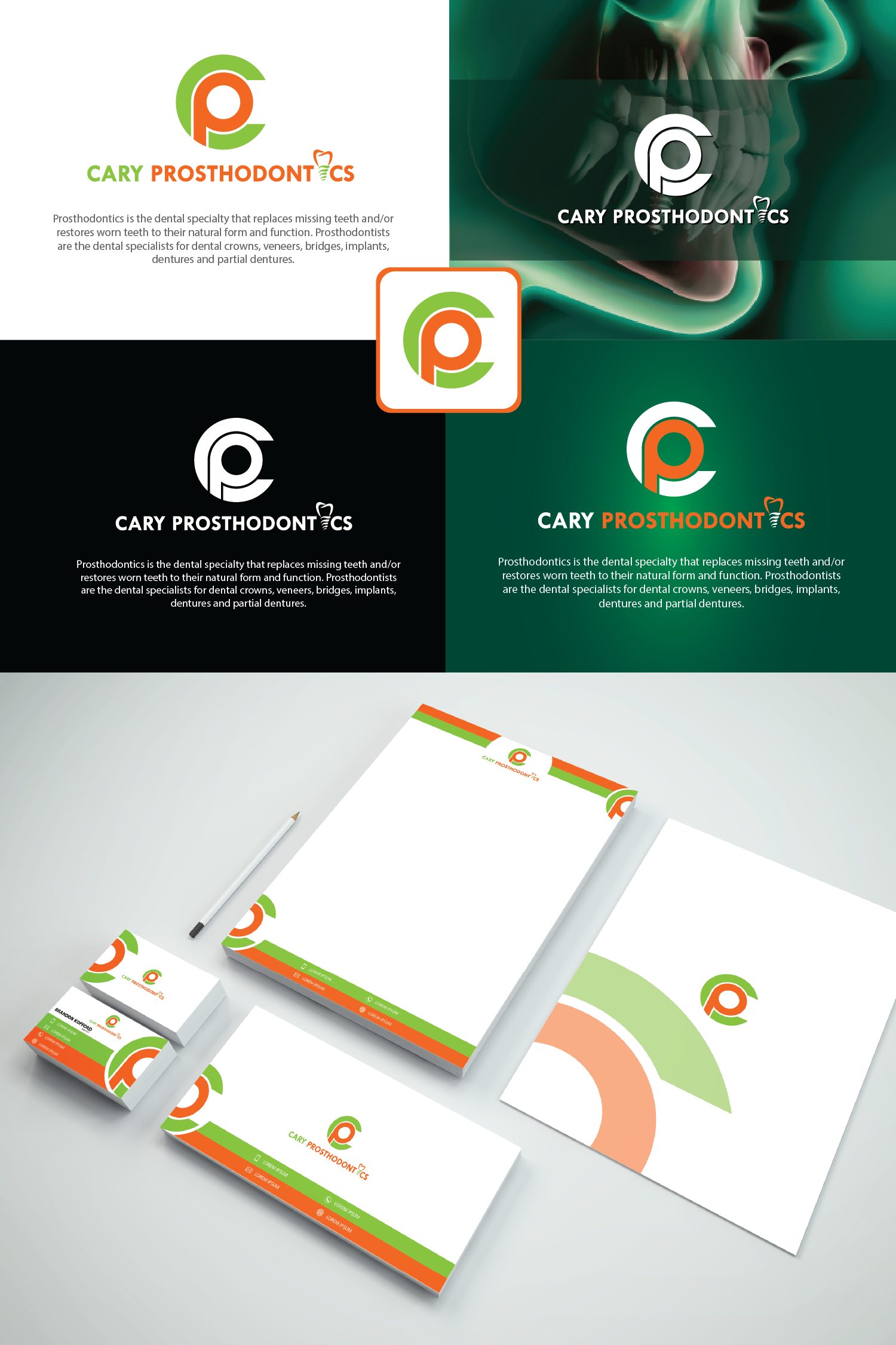 Logo Design by Private User - Entry No. 142 in the Logo Design Contest Cary Prosthodontics Logo Design.