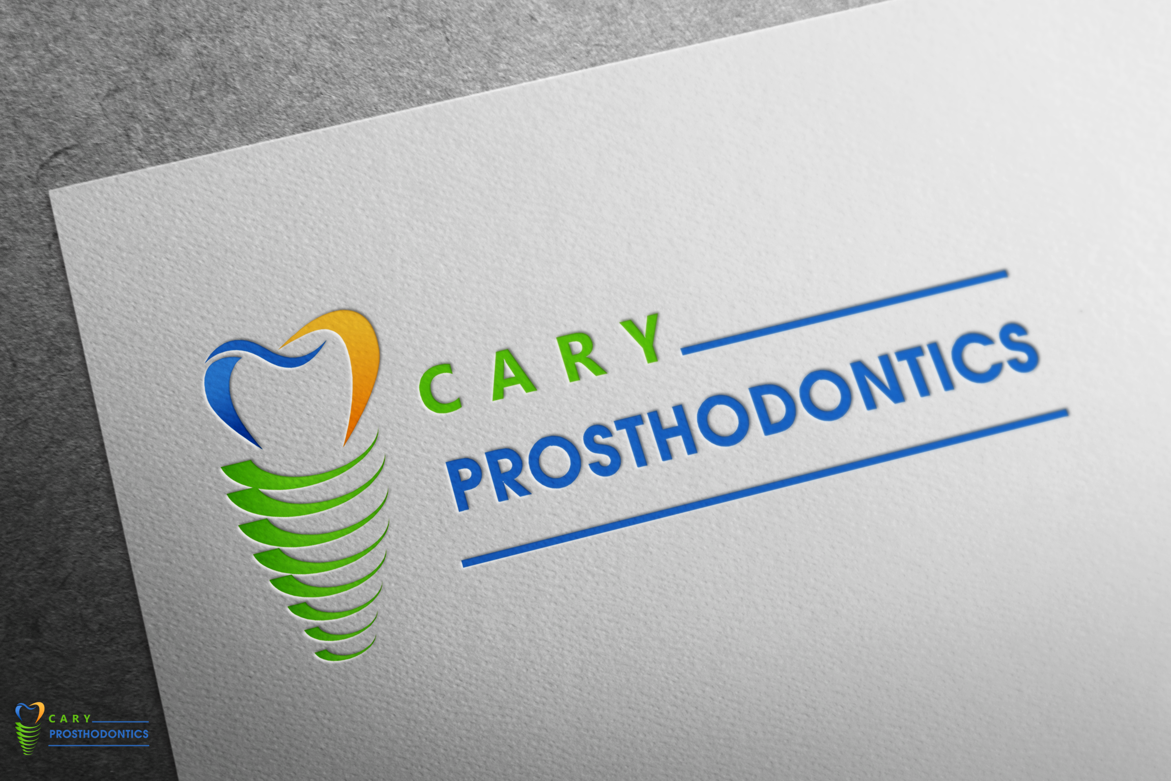 Logo Design by Hania Hassaan - Entry No. 146 in the Logo Design Contest Cary Prosthodontics Logo Design.
