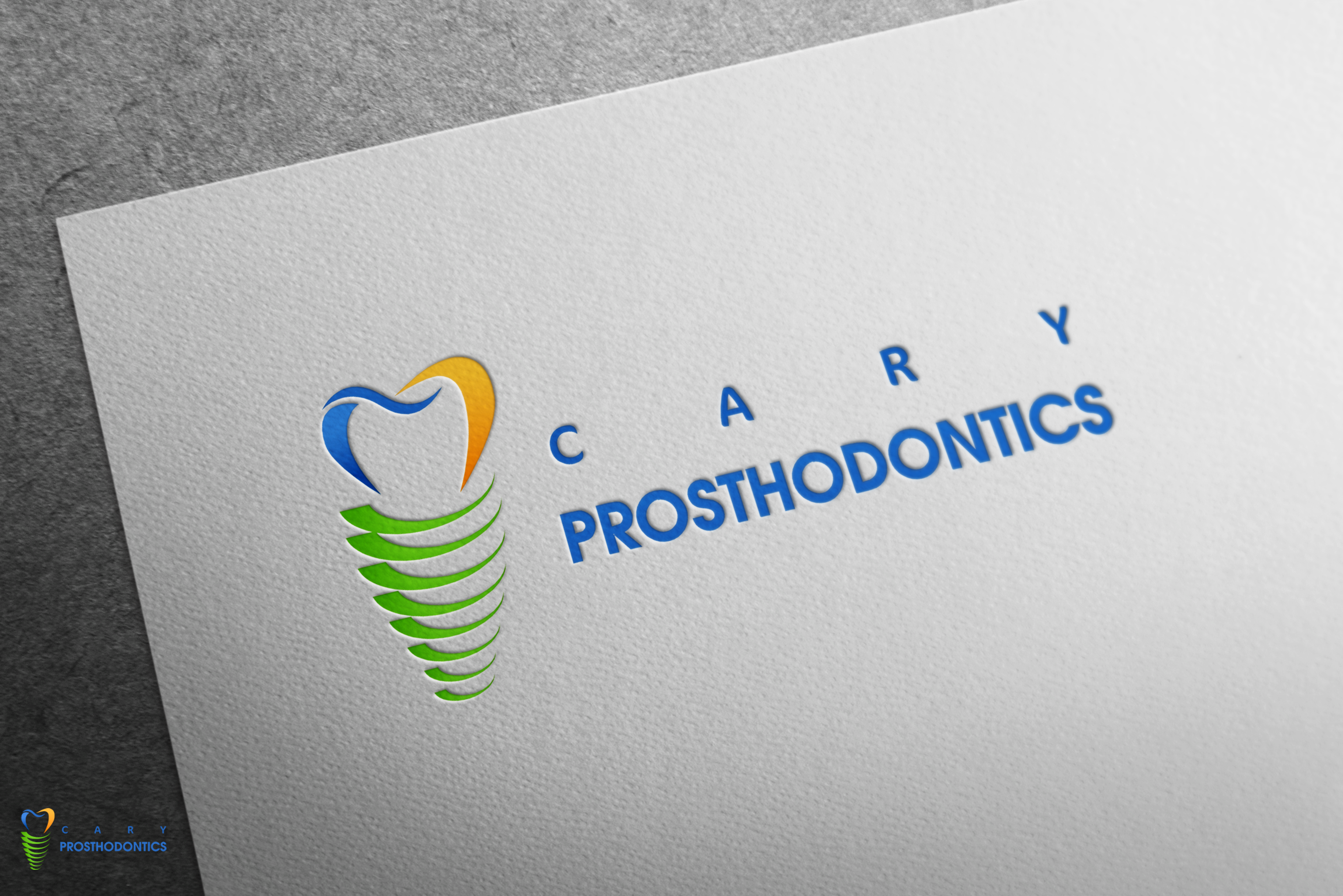 Logo Design by Hania Hassaan - Entry No. 147 in the Logo Design Contest Cary Prosthodontics Logo Design.