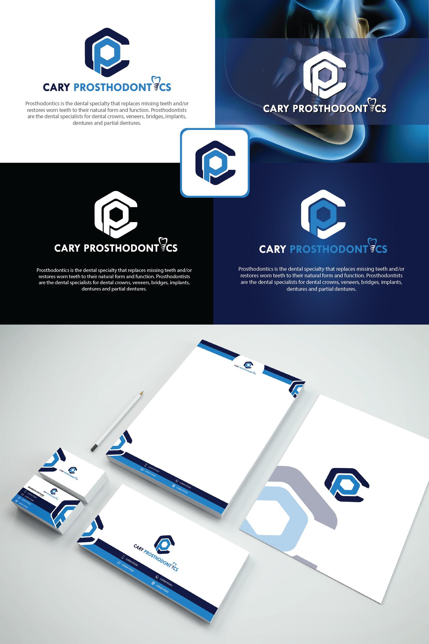 Logo Design by Private User - Entry No. 154 in the Logo Design Contest Cary Prosthodontics Logo Design.