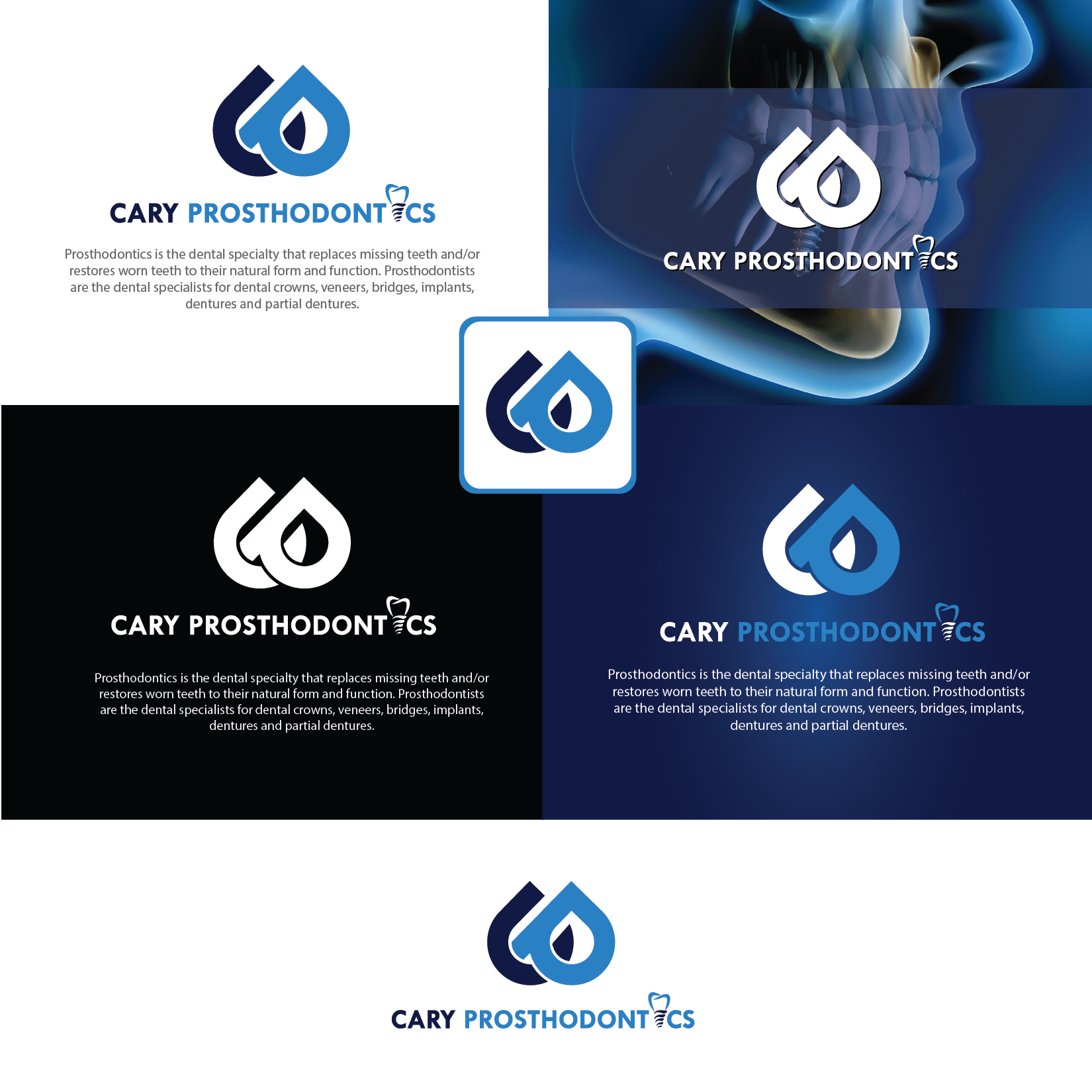 Logo Design by Private User - Entry No. 159 in the Logo Design Contest Cary Prosthodontics Logo Design.