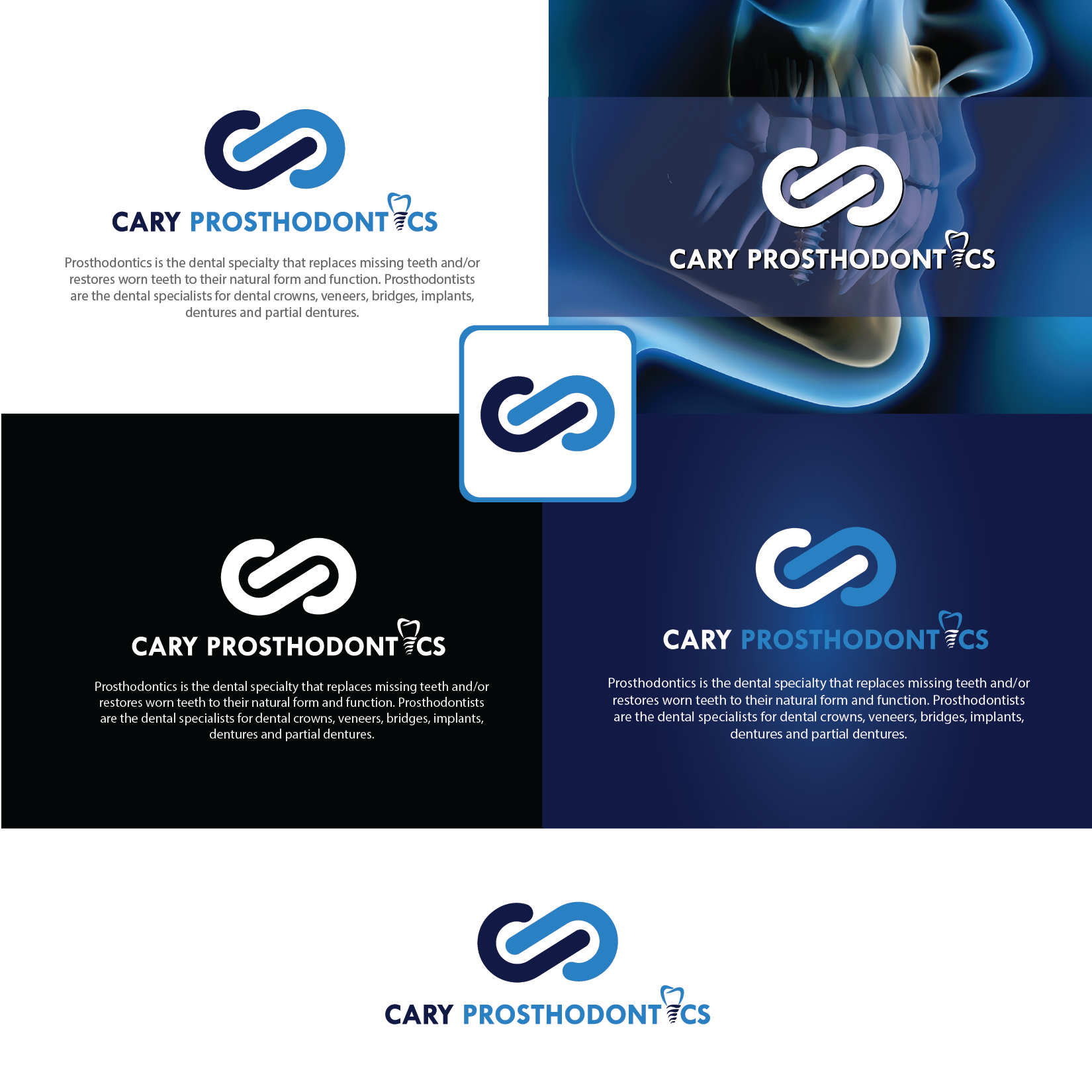 Logo Design by Private User - Entry No. 174 in the Logo Design Contest Cary Prosthodontics Logo Design.