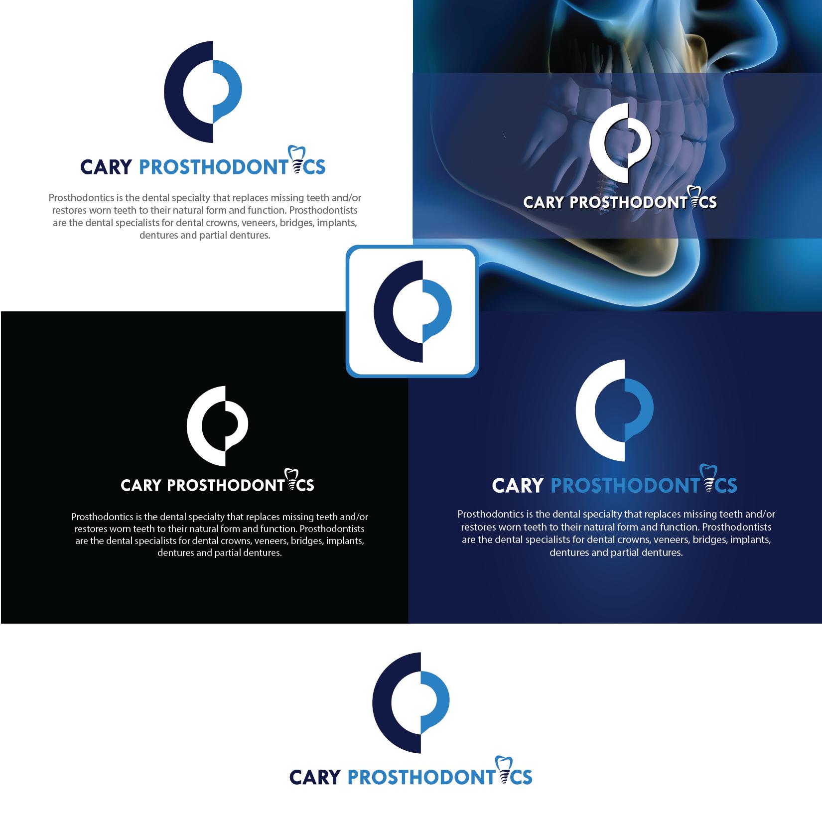 Logo Design by Private User - Entry No. 208 in the Logo Design Contest Cary Prosthodontics Logo Design.