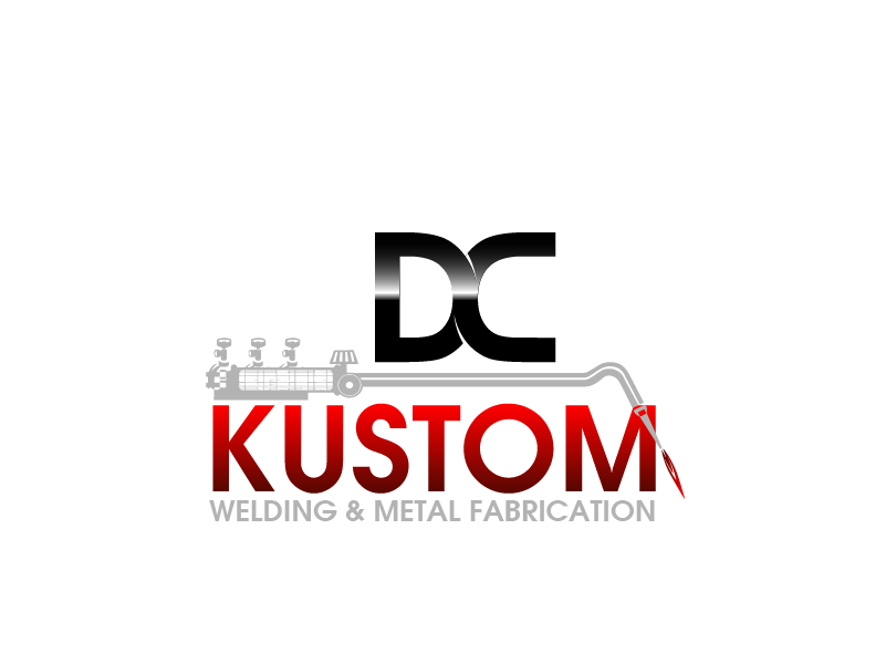 Logo Design by Private User - Entry No. 2 in the Logo Design Contest Imaginative Logo Design for DC KUSTOM WELDING & METAL FABRICATION.