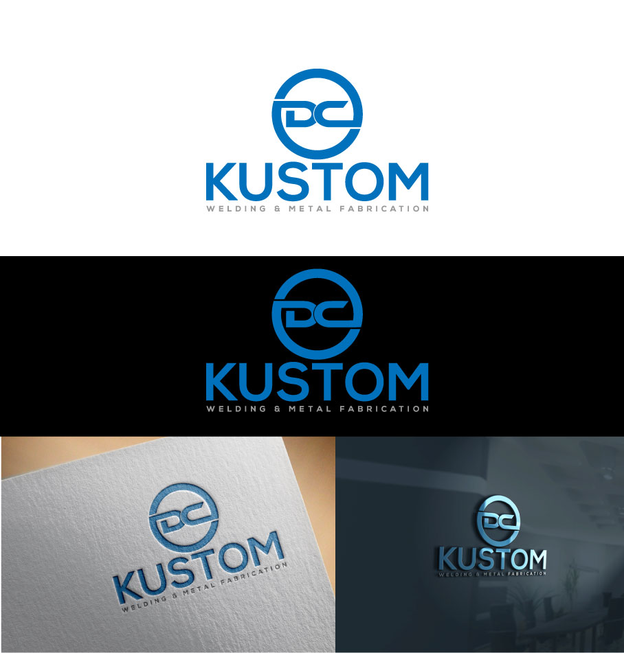 Logo Design by Private User - Entry No. 6 in the Logo Design Contest Imaginative Logo Design for DC KUSTOM WELDING & METAL FABRICATION.