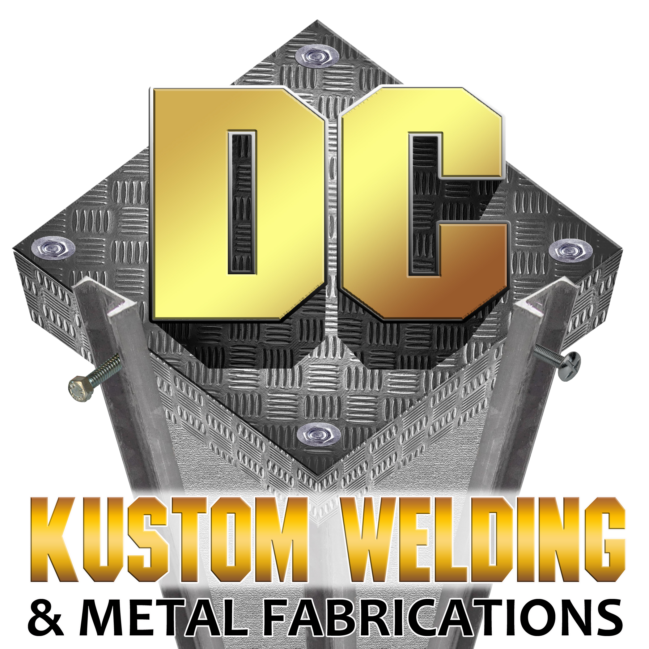 Logo Design by Kitz Malinao - Entry No. 12 in the Logo Design Contest Imaginative Logo Design for DC KUSTOM WELDING & METAL FABRICATION.
