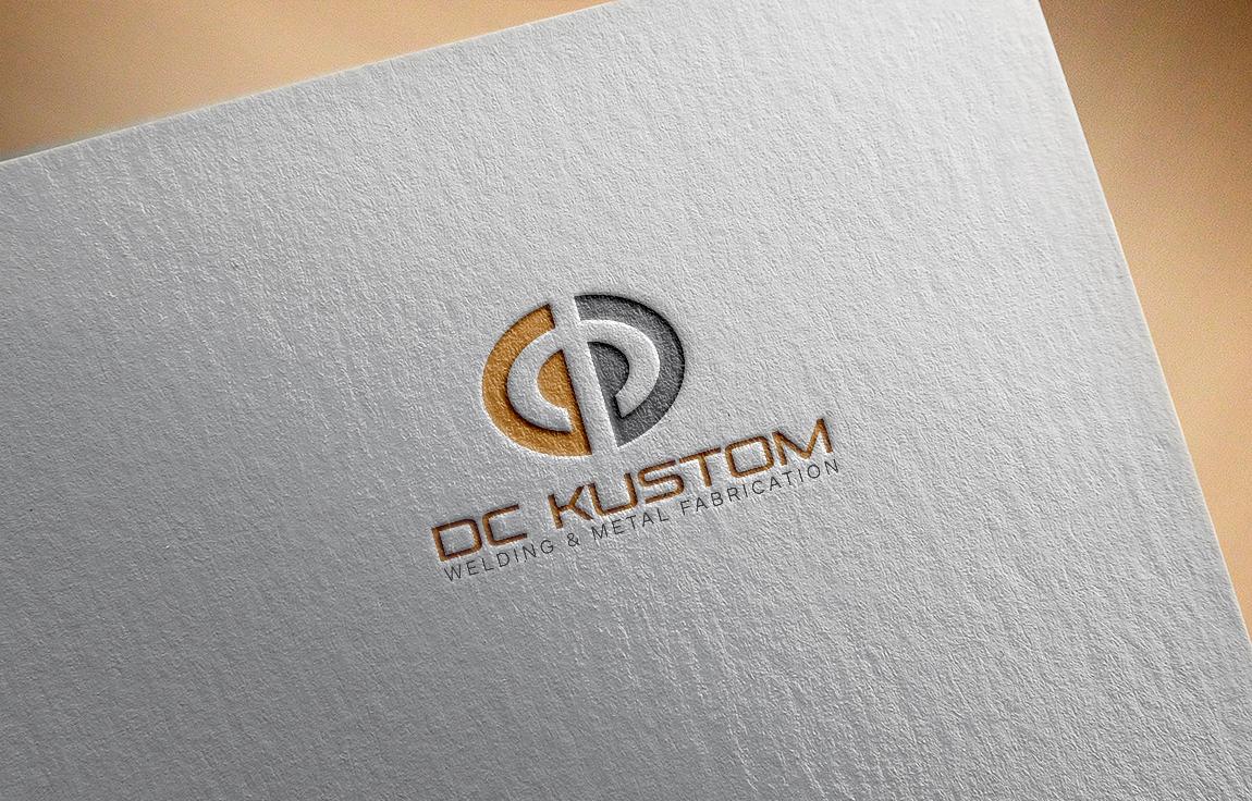 Logo Design by roc - Entry No. 17 in the Logo Design Contest Imaginative Logo Design for DC KUSTOM WELDING & METAL FABRICATION.