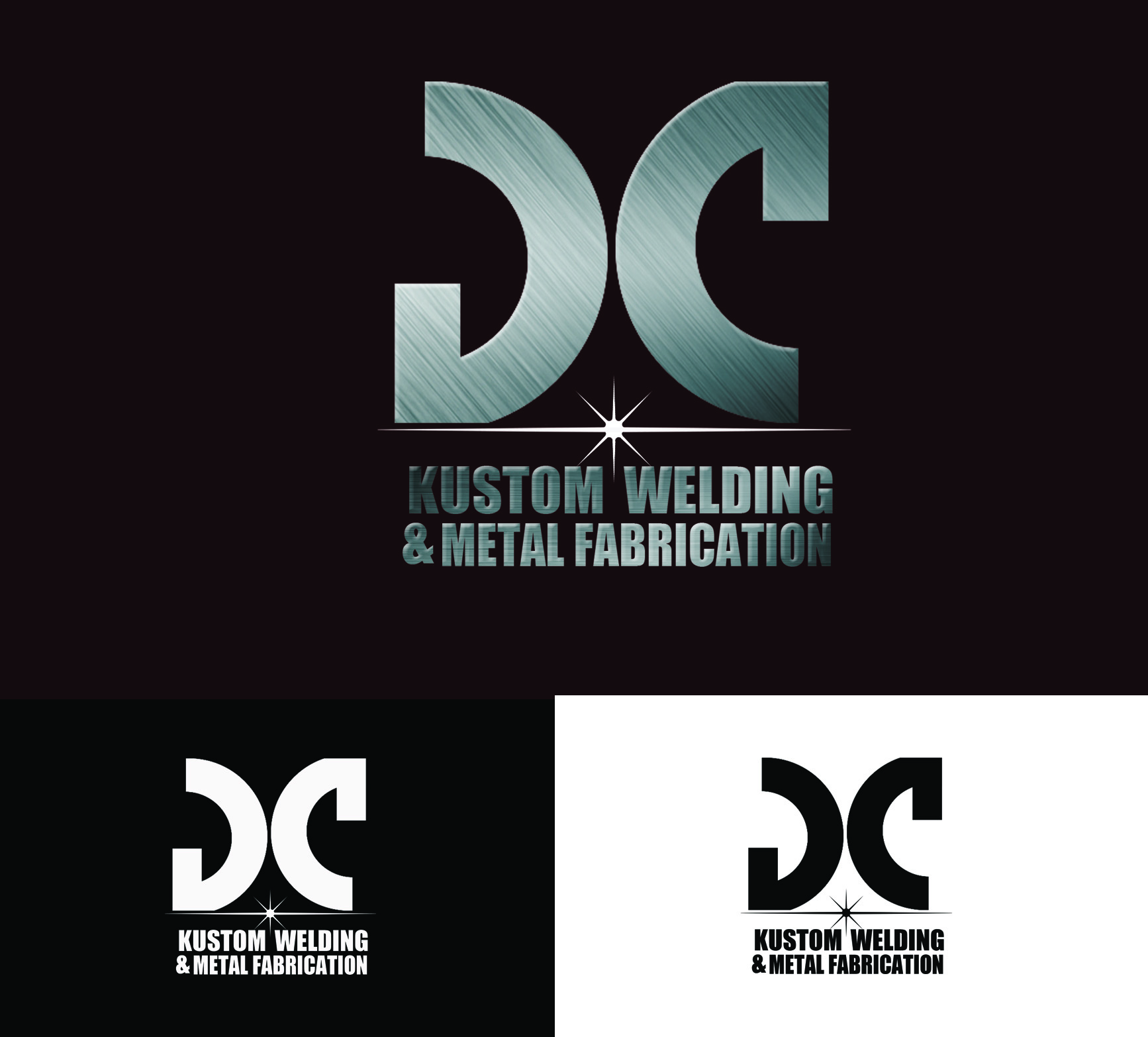 Logo Design by Arqui ACOSTA - Entry No. 19 in the Logo Design Contest Imaginative Logo Design for DC KUSTOM WELDING & METAL FABRICATION.