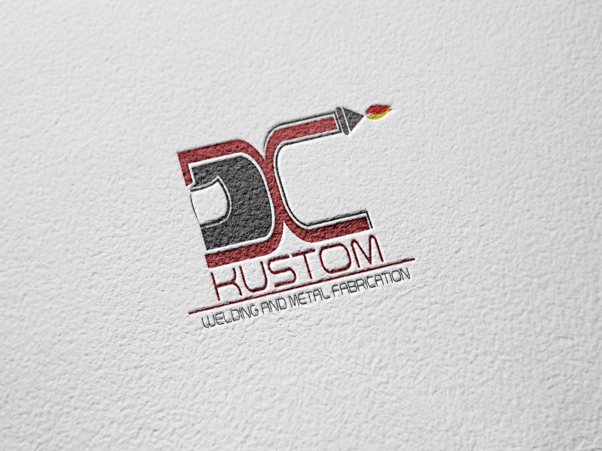 Logo Design by John Melvie Sulla - Entry No. 22 in the Logo Design Contest Imaginative Logo Design for DC KUSTOM WELDING & METAL FABRICATION.