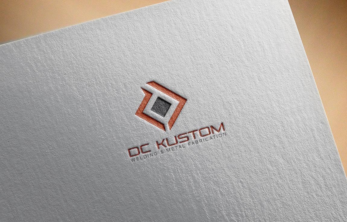Logo Design by roc - Entry No. 24 in the Logo Design Contest Imaginative Logo Design for DC KUSTOM WELDING & METAL FABRICATION.