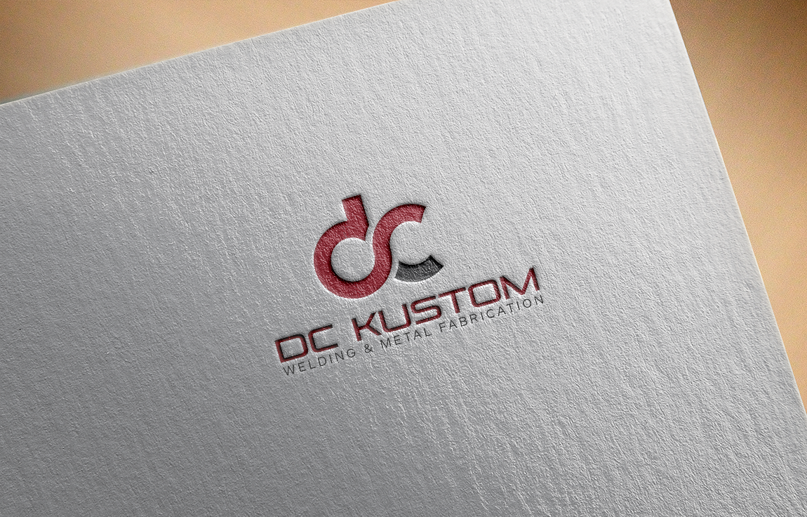 Logo Design by roc - Entry No. 37 in the Logo Design Contest Imaginative Logo Design for DC KUSTOM WELDING & METAL FABRICATION.