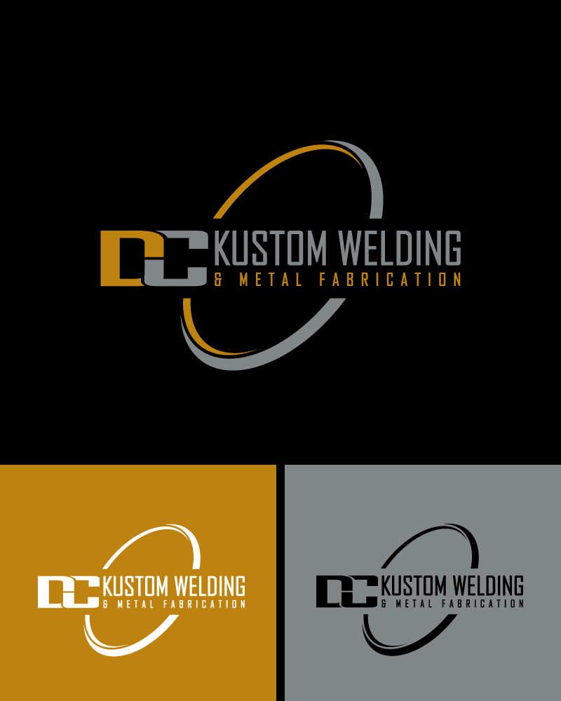 Logo Design by Private User - Entry No. 42 in the Logo Design Contest Imaginative Logo Design for DC KUSTOM WELDING & METAL FABRICATION.