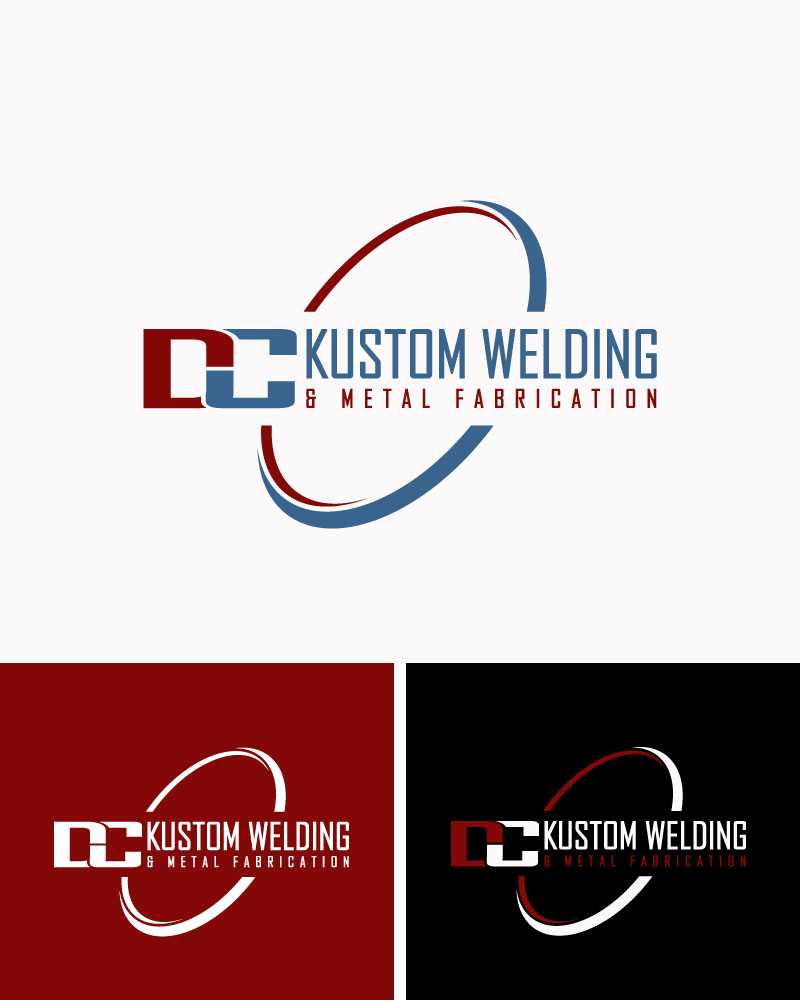 Logo Design by Private User - Entry No. 43 in the Logo Design Contest Imaginative Logo Design for DC KUSTOM WELDING & METAL FABRICATION.
