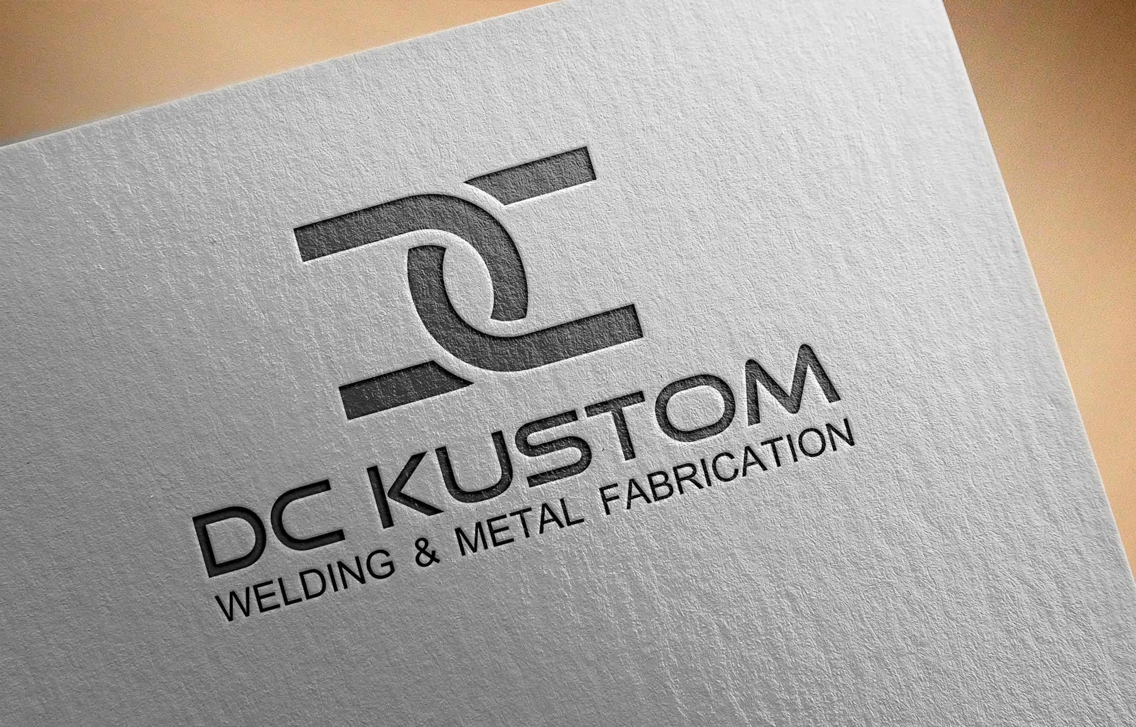 Logo Design by Net Bih - Entry No. 44 in the Logo Design Contest Imaginative Logo Design for DC KUSTOM WELDING & METAL FABRICATION.