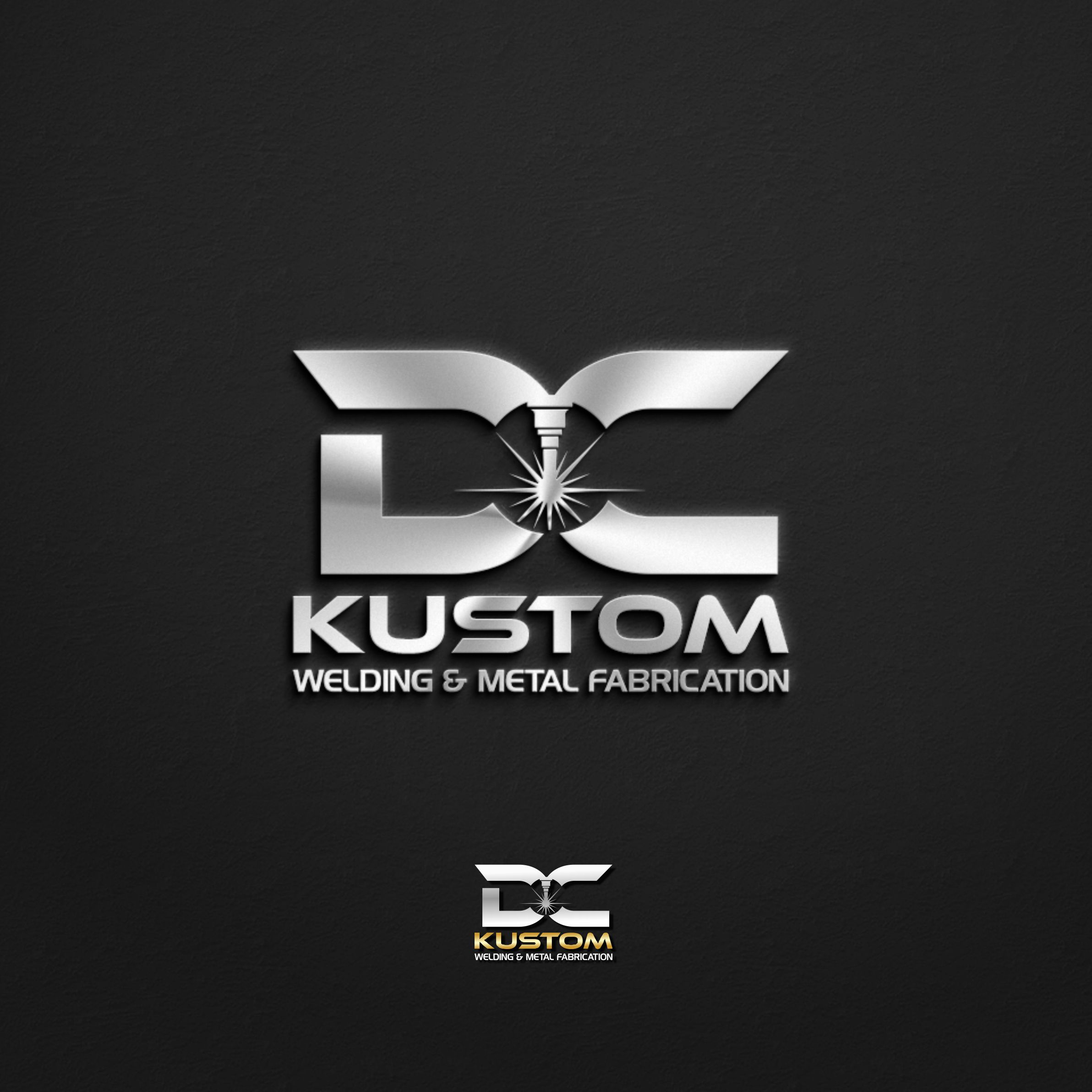 Logo Design by Raymond Garcia - Entry No. 46 in the Logo Design Contest Imaginative Logo Design for DC KUSTOM WELDING & METAL FABRICATION.