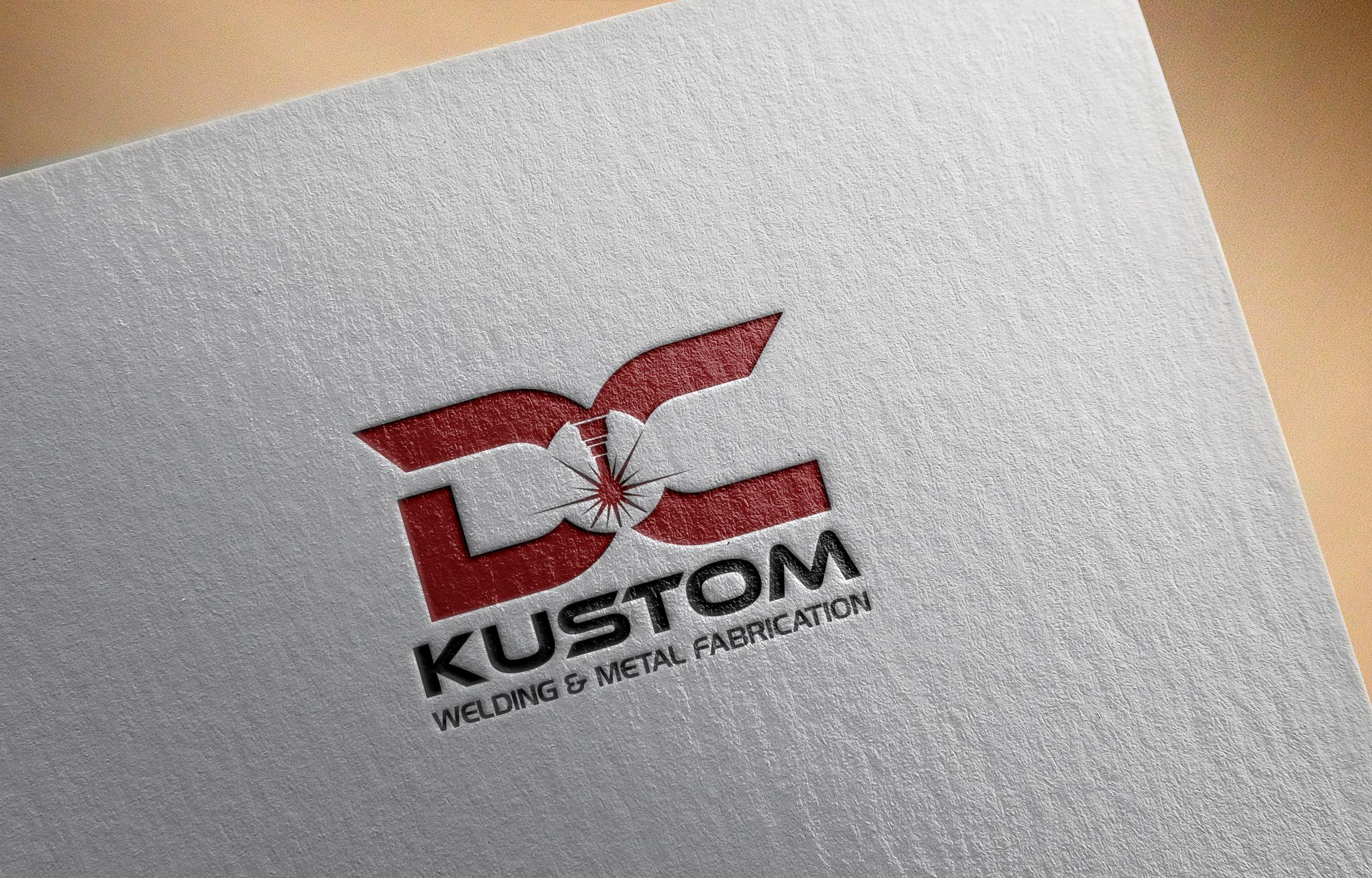 Logo Design by Raymond Garcia - Entry No. 47 in the Logo Design Contest Imaginative Logo Design for DC KUSTOM WELDING & METAL FABRICATION.
