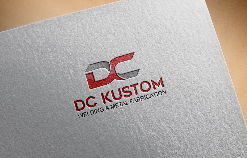 Logo Design by Private User - Entry No. 49 in the Logo Design Contest Imaginative Logo Design for DC KUSTOM WELDING & METAL FABRICATION.