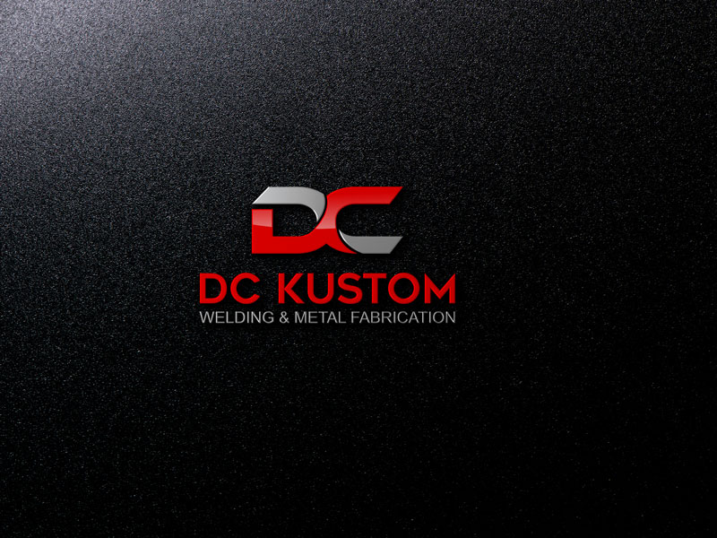 Logo Design by Private User - Entry No. 50 in the Logo Design Contest Imaginative Logo Design for DC KUSTOM WELDING & METAL FABRICATION.