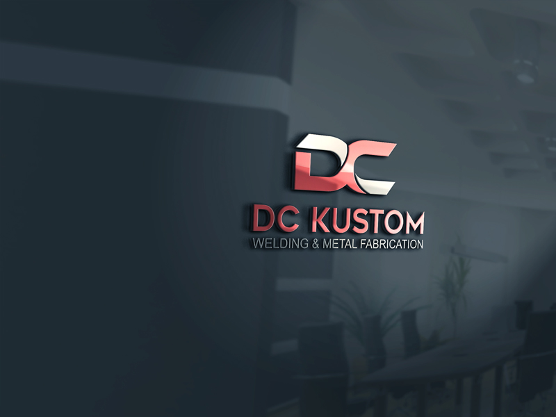 Logo Design by Private User - Entry No. 51 in the Logo Design Contest Imaginative Logo Design for DC KUSTOM WELDING & METAL FABRICATION.