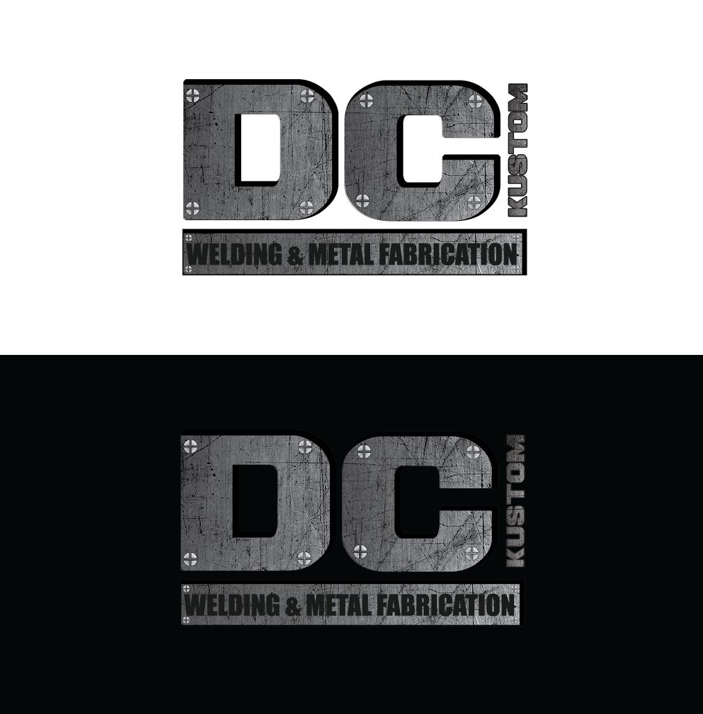 Logo Design by pojas12 - Entry No. 53 in the Logo Design Contest Imaginative Logo Design for DC KUSTOM WELDING & METAL FABRICATION.