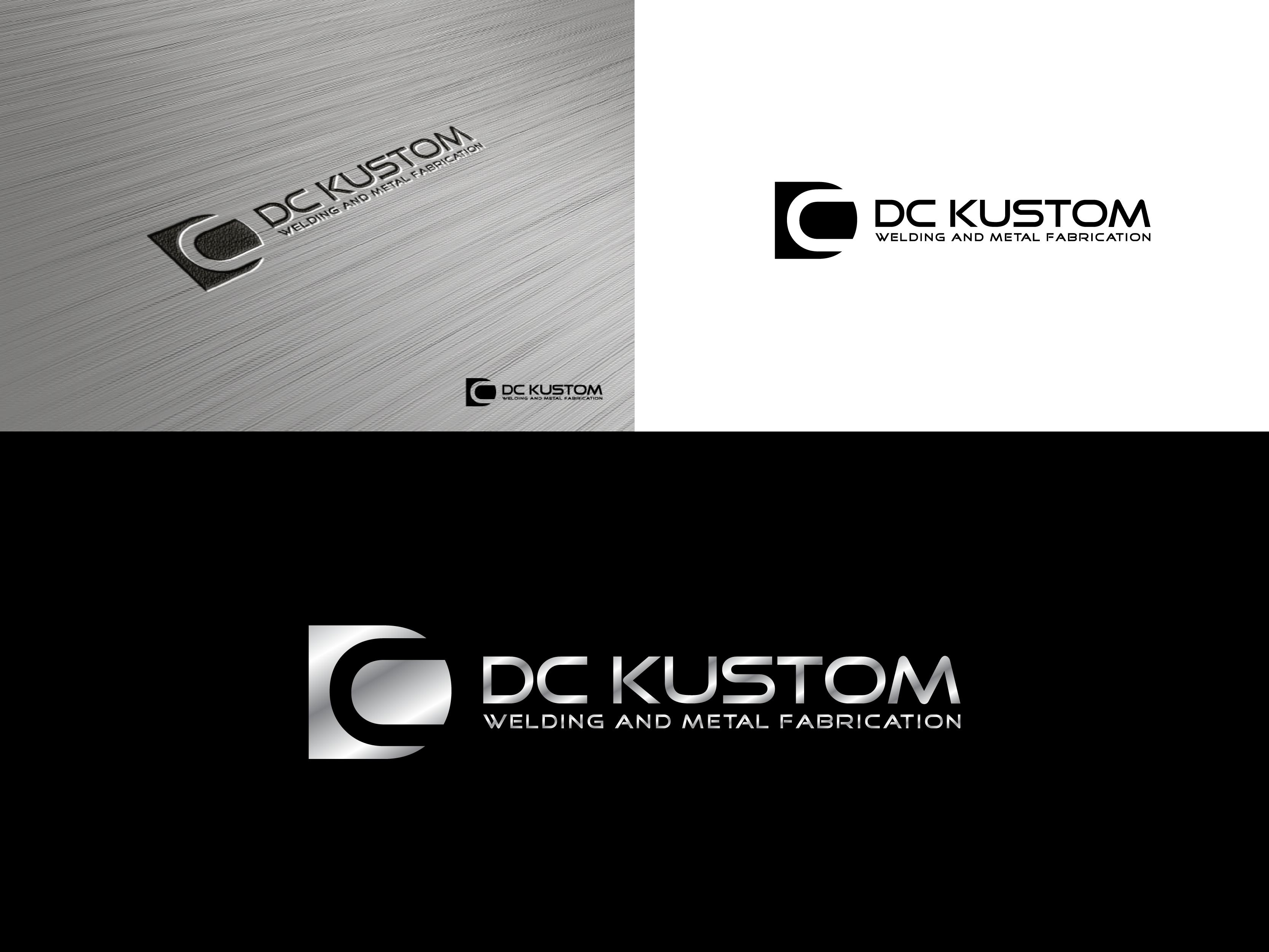 Logo Design by Shivaprasad Sangondimath - Entry No. 58 in the Logo Design Contest Imaginative Logo Design for DC KUSTOM WELDING & METAL FABRICATION.