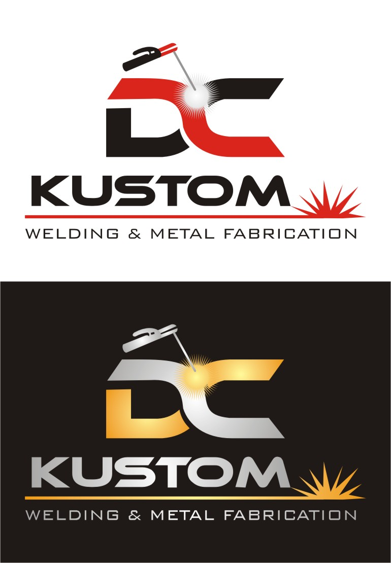Logo Design by Spider Graphics - Entry No. 59 in the Logo Design Contest Imaginative Logo Design for DC KUSTOM WELDING & METAL FABRICATION.