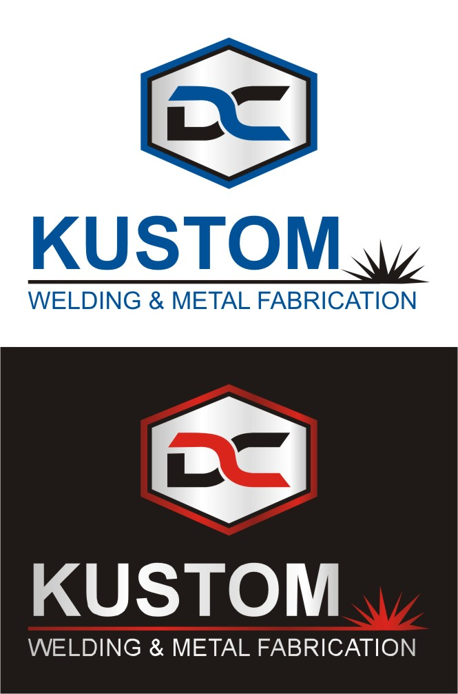 Logo Design by Spider Graphics - Entry No. 60 in the Logo Design Contest Imaginative Logo Design for DC KUSTOM WELDING & METAL FABRICATION.