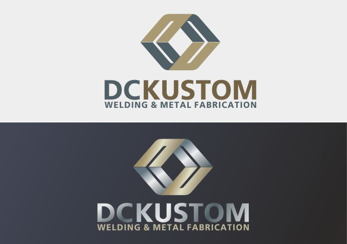 Logo Design by Ifan Afandie - Entry No. 62 in the Logo Design Contest Imaginative Logo Design for DC KUSTOM WELDING & METAL FABRICATION.