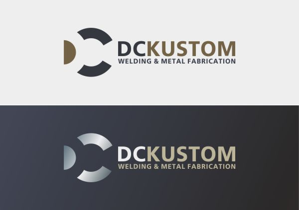 Logo Design by Ifan Afandie - Entry No. 63 in the Logo Design Contest Imaginative Logo Design for DC KUSTOM WELDING & METAL FABRICATION.