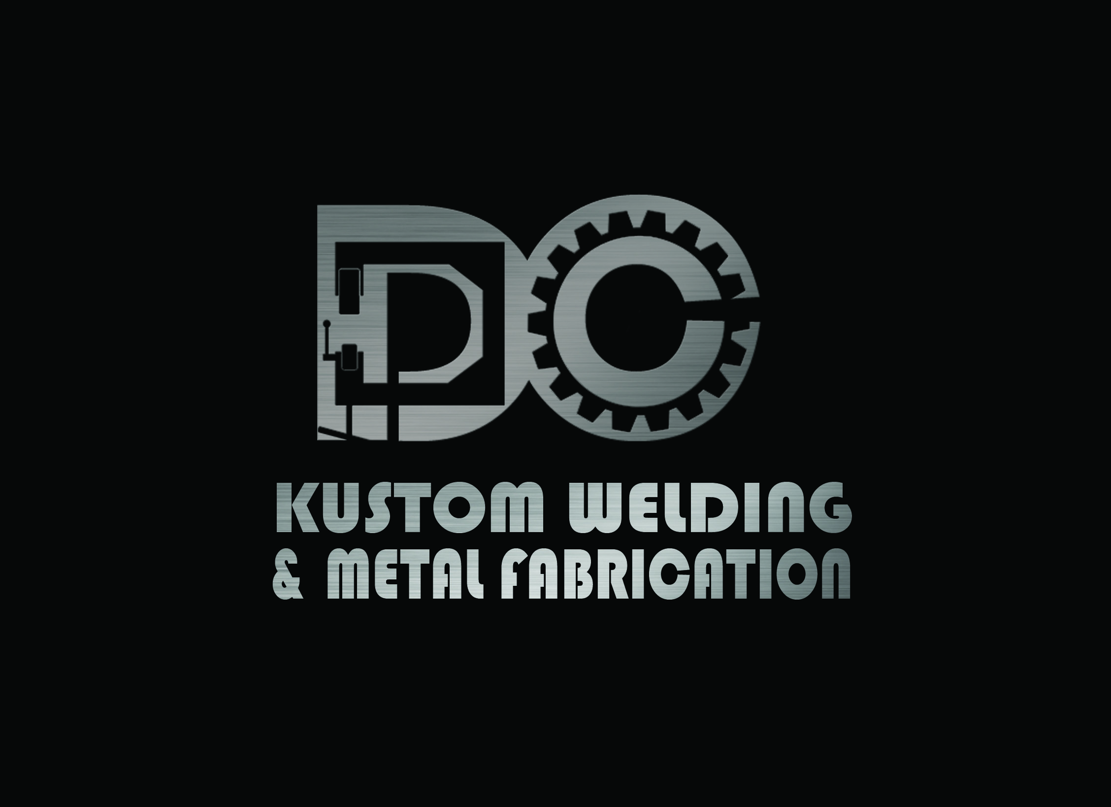Logo Design by Arqui ACOSTA - Entry No. 73 in the Logo Design Contest Imaginative Logo Design for DC KUSTOM WELDING & METAL FABRICATION.