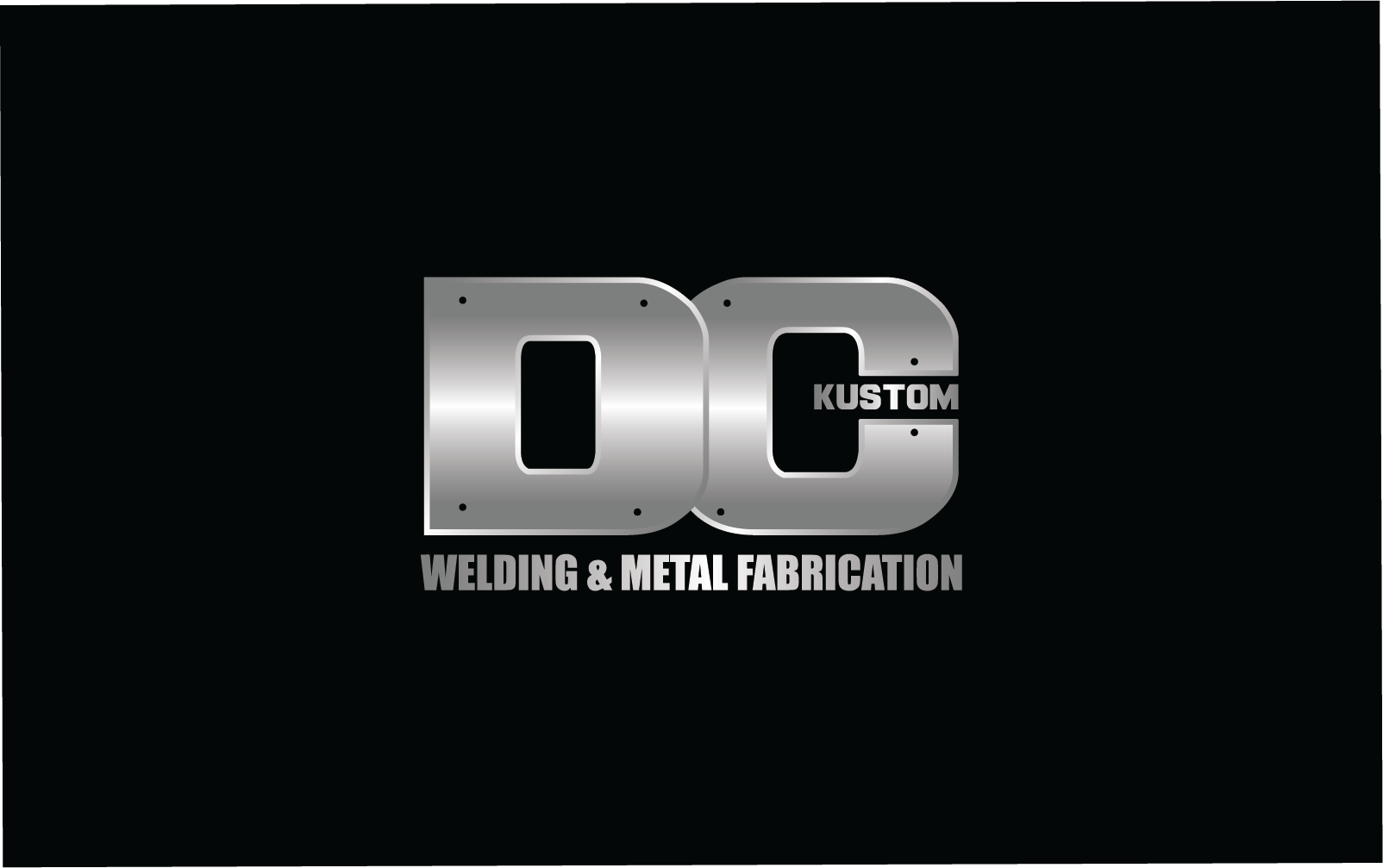 Logo Design by pojas12 - Entry No. 86 in the Logo Design Contest Imaginative Logo Design for DC KUSTOM WELDING & METAL FABRICATION.