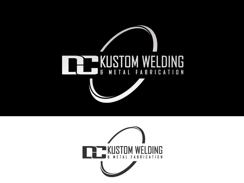 Logo Design by Private User - Entry No. 91 in the Logo Design Contest Imaginative Logo Design for DC KUSTOM WELDING & METAL FABRICATION.