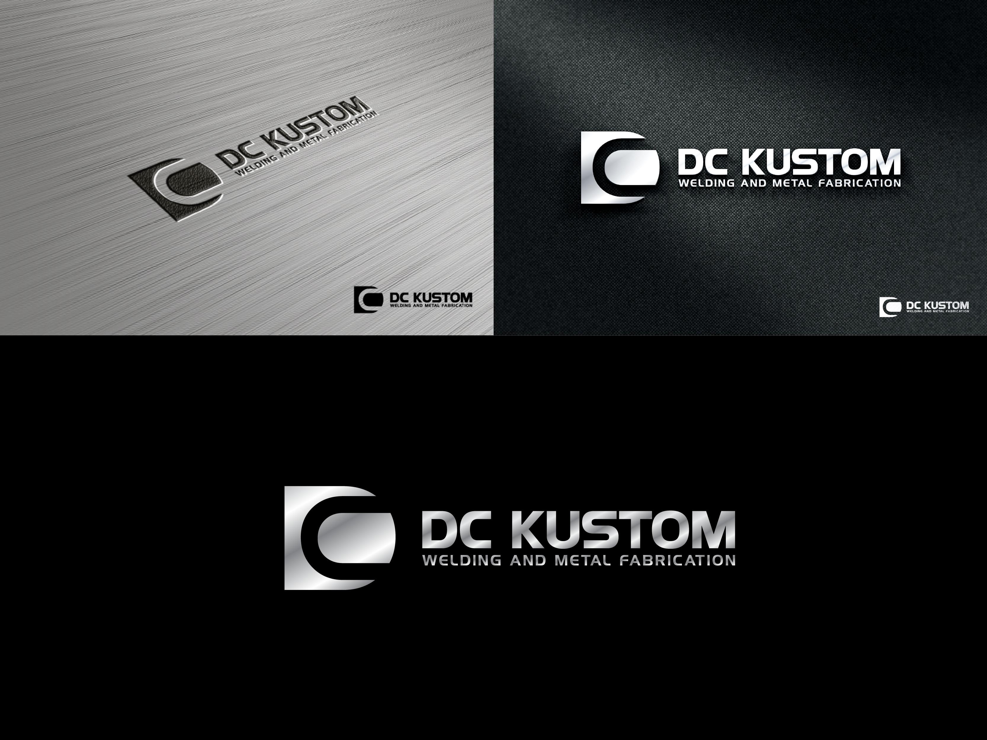 Logo Design by Shivaprasad Sangondimath - Entry No. 94 in the Logo Design Contest Imaginative Logo Design for DC KUSTOM WELDING & METAL FABRICATION.