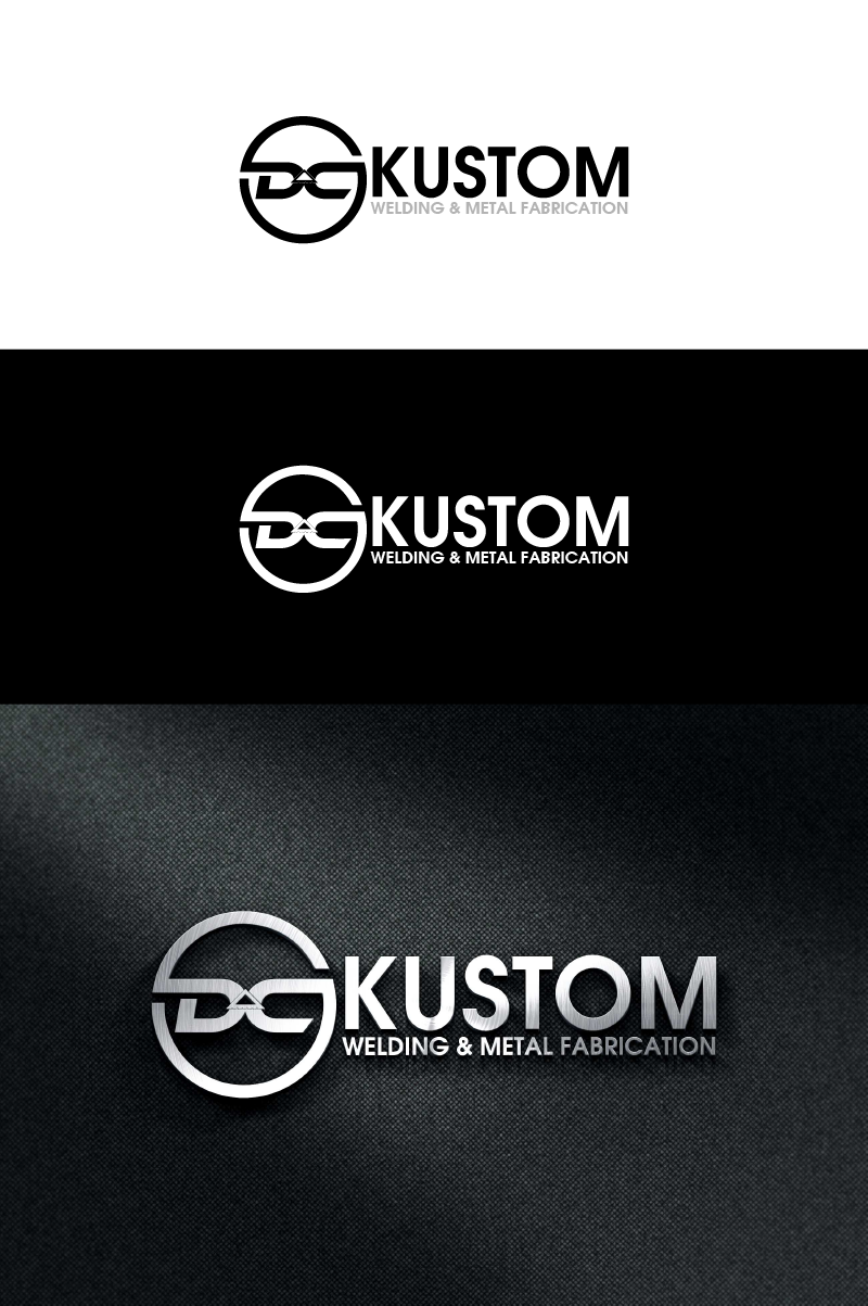 Logo Design by Private User - Entry No. 97 in the Logo Design Contest Imaginative Logo Design for DC KUSTOM WELDING & METAL FABRICATION.