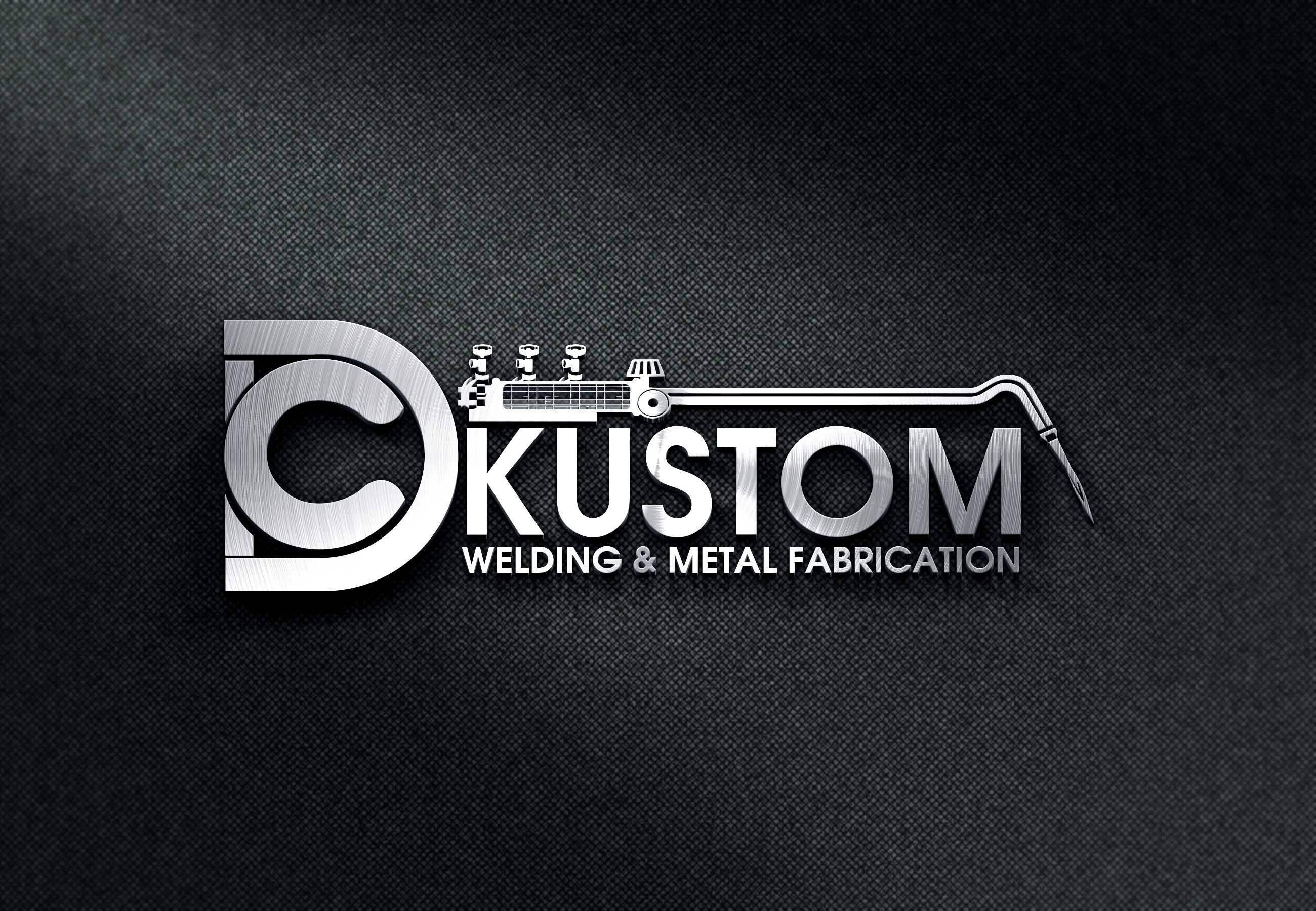 Logo Design by Private User - Entry No. 98 in the Logo Design Contest Imaginative Logo Design for DC KUSTOM WELDING & METAL FABRICATION.
