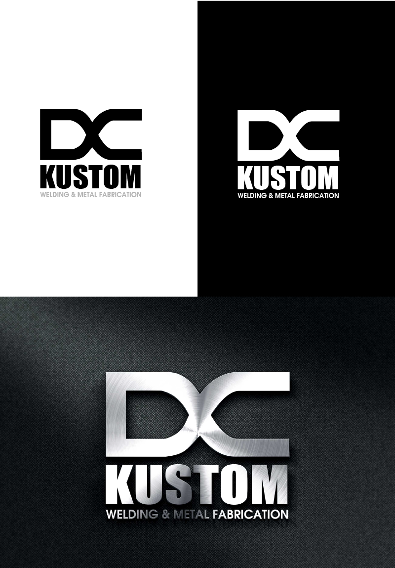 Logo Design by Private User - Entry No. 99 in the Logo Design Contest Imaginative Logo Design for DC KUSTOM WELDING & METAL FABRICATION.
