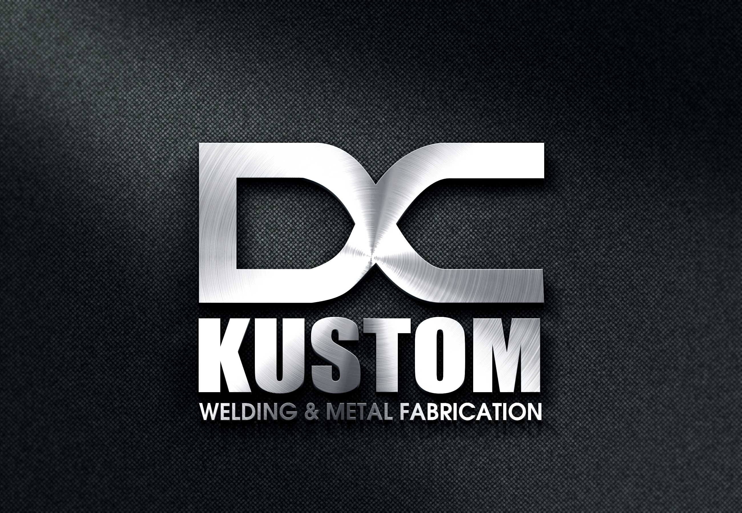 Logo Design by Private User - Entry No. 100 in the Logo Design Contest Imaginative Logo Design for DC KUSTOM WELDING & METAL FABRICATION.