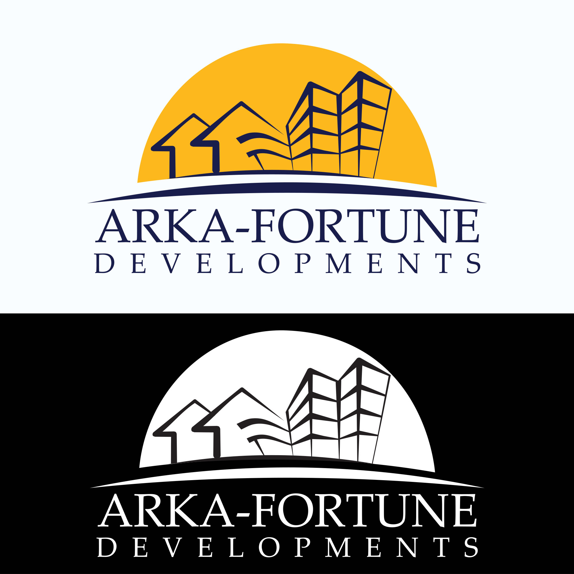Logo Design by AKM Fazley Rabbi Faruque - Entry No. 89 in the Logo Design Contest Arka-Fortune Developments Logo Design.