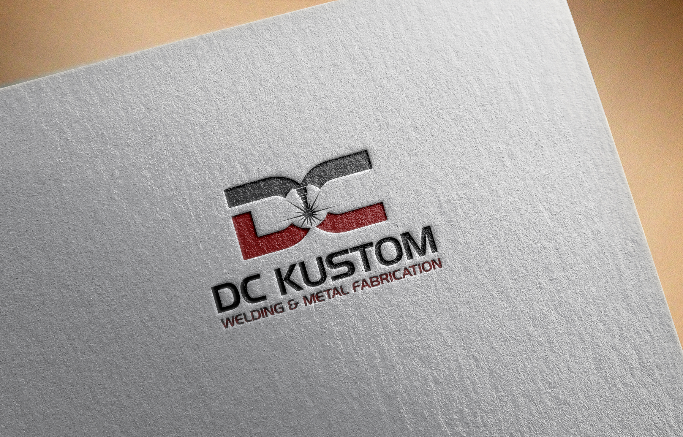 Logo Design by Raymond Garcia - Entry No. 105 in the Logo Design Contest Imaginative Logo Design for DC KUSTOM WELDING & METAL FABRICATION.