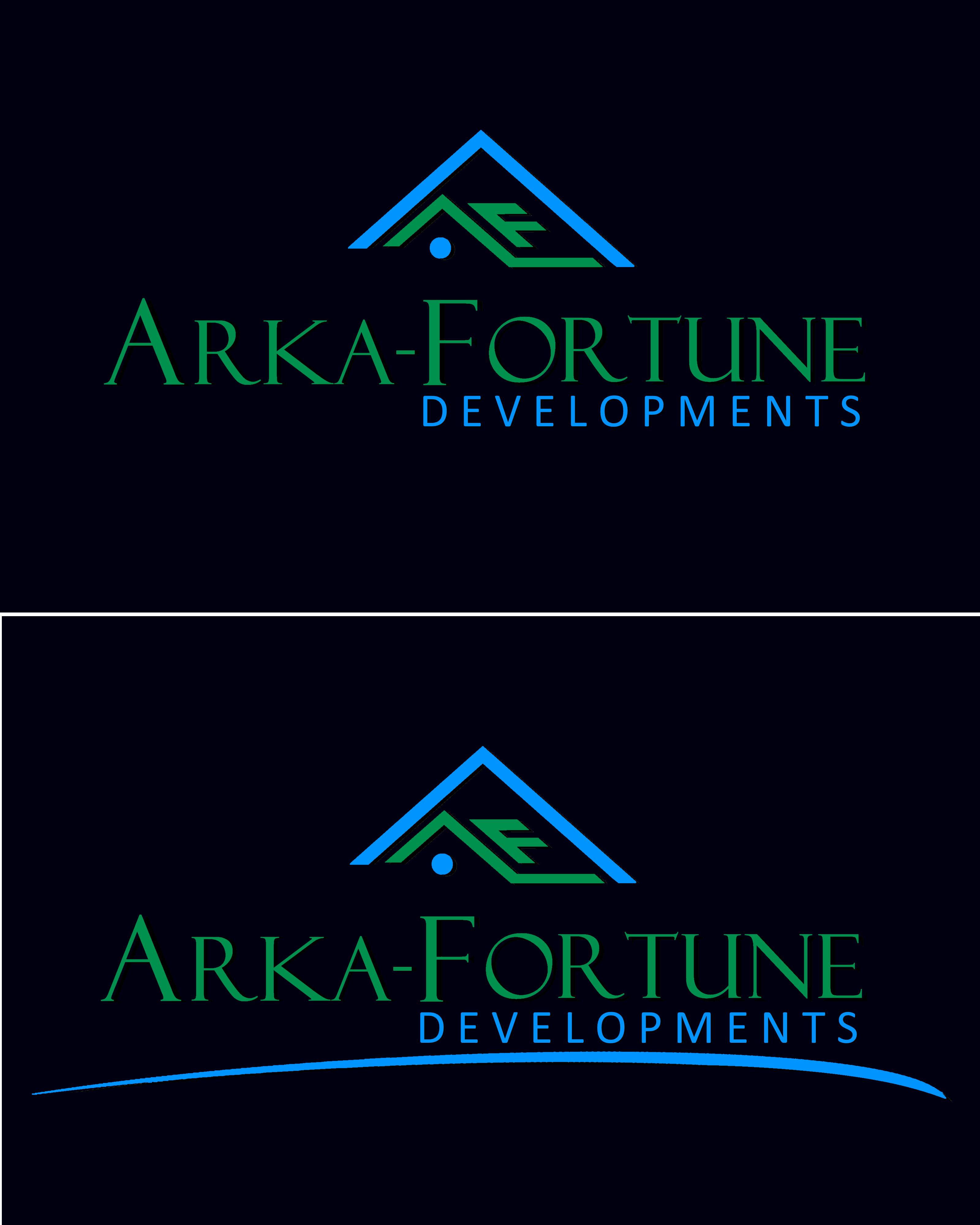 Logo Design by Roberto Bassi - Entry No. 91 in the Logo Design Contest Arka-Fortune Developments Logo Design.