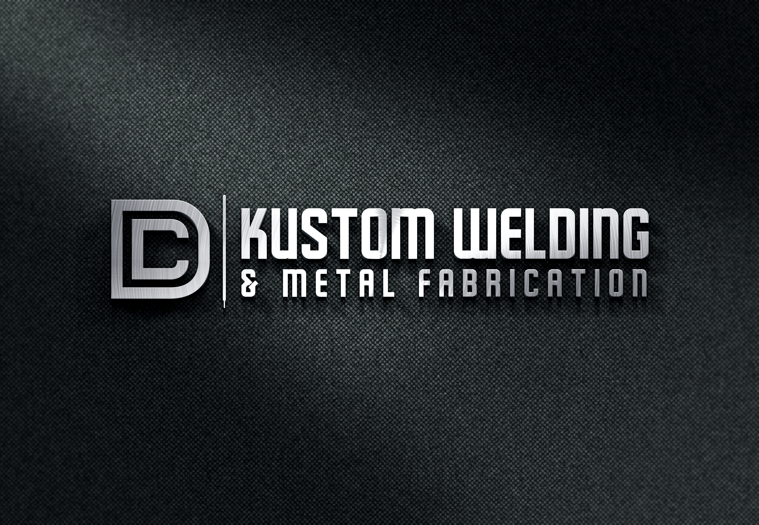 Logo Design by Juan Luna - Entry No. 106 in the Logo Design Contest Imaginative Logo Design for DC KUSTOM WELDING & METAL FABRICATION.