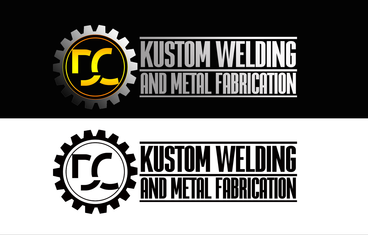 Logo Design by Arqui ACOSTA - Entry No. 107 in the Logo Design Contest Imaginative Logo Design for DC KUSTOM WELDING & METAL FABRICATION.