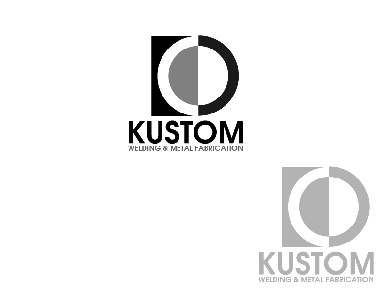 Logo Design by Private User - Entry No. 112 in the Logo Design Contest Imaginative Logo Design for DC KUSTOM WELDING & METAL FABRICATION.